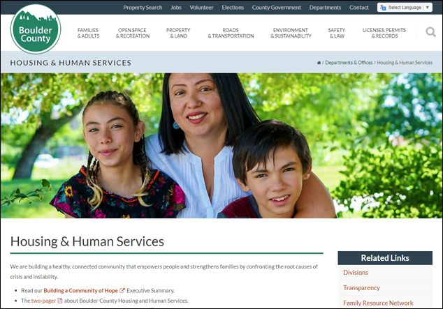 Boulder County Housing and Human Services