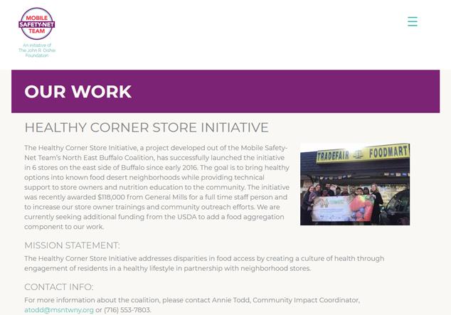 Healthy Corner Store Initiative