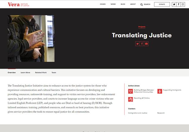Vera Institute Translating Justice Initiative
